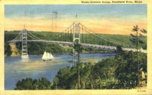 Waldo-Hancock Bridge Penobscot River ME 1941