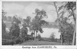 Clarksburg Pennsylvania Greetings Antique Postcard J39469