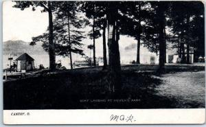 Canton, Ohio Postcard BOAT LANDING AT MEYER'S PARK Lake View Dated 1908