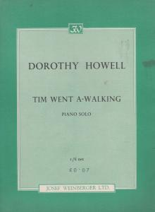 Tim Went A Walking Dorothy Howell 1960s Sheet Music