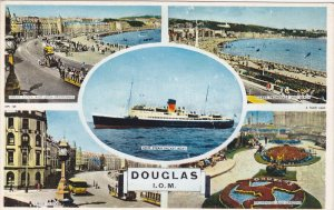 TUCK; DOUGLAS, Isle of Man, United Kingdom; 5-Views, I.O.M. Steam Packet Boat...