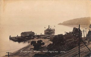 Port Kent New York Steamboat Wharf Real Photo Vintage Postcard AA33810