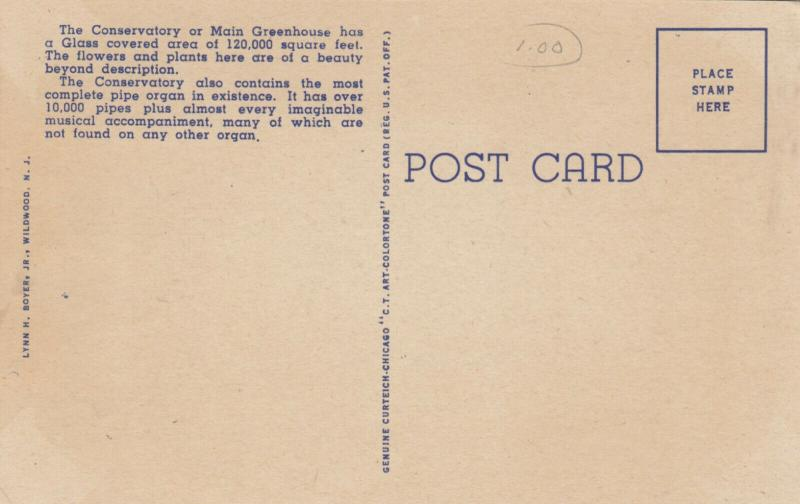 WILMINGTON , Delaware, 30-40s , Longwood Gardens Display Hall