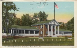 WEST MONROE , Louisiana, 1910-30s ; G.B.Cooley TB Sanitorium