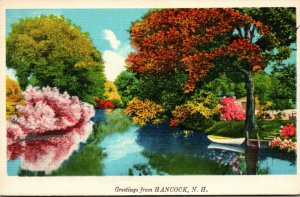 New Hampshire Greetings From Hancock 1936