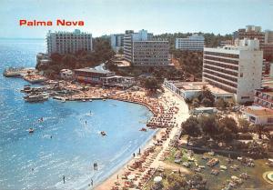Spain Palma Nova Mallorca Playa Beach Hotel Aerial view Boats