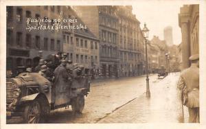 Germany Ashebung eines Spartakistennestes, Auto Car, Military, Postkarte