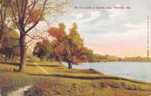 Portage Wisconsin~Foot Path Along the Shore of Silver Lake~1910 Postcard