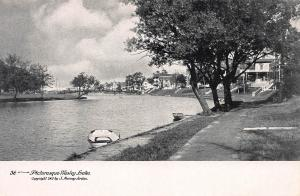 Picturesque Wesley Lake, Asbury Park, N.J., New Jersey, Early Postcard, Unused