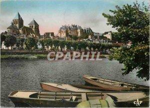 Postcard Modern Saint Aignan Church and the Castle Quays