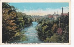 WILLIMANTIC, Connecticut; Willimantic River from Foot Bridge, PU-1929