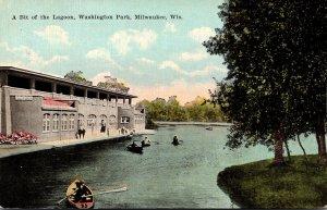 Wisconsin Milwaukee Washington Park Boating In The Lagoon