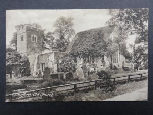 Essex: Chingford Old Church c1906 Old Postcard by F. Frith & Co No.53055