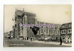 tq2027 - Kent - The Grand Town Hall and Clock, in Dover - Postcard