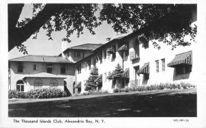 Alexandria Bay New York Thousand Islands Club Real Photo Antique Postcard K99686