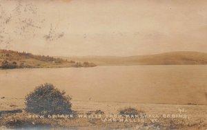 LPV42 Lake Wallis Vermont VT Postcard RPPC Aerial View Lake Wallis