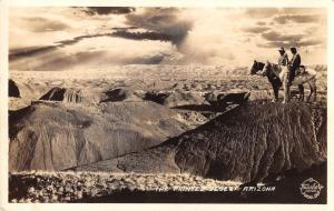 Painted Desert Arizona birds eye view by Frasher real photo pc Y14665