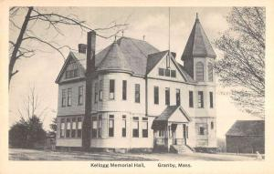 Granby Massachusetts outside Kellogg Memorial Hall antique pc Y12872