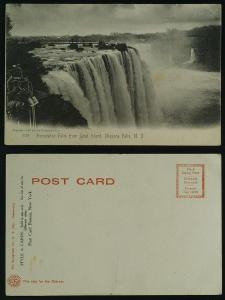 Niagara Falls NY, Horseshoe falls from Goat Island, c1905