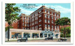 The Seville Apartment Hotel, Chicago, IL Postcard *6A1