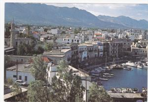 Aerial View, Harbor and Town, KYRENIA, Cyprus, 50-70's