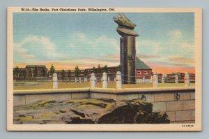 The Rocks, Fort Christina Park, Wilmington, Deleware, Postcard
