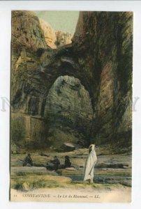 425826 ALGERIA CONSTANTINE Rhummel Gorges bed Vintage postcard