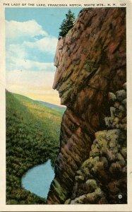 NH - Franconia Notch. Lady of the Lake    VERY RARE ITEM