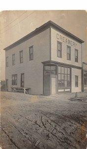 G28/ Jenson Wisconsin RPPC Postcard c1910 Creamery Mattson Building