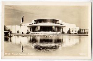 RPPC, 1939 NY Worlds Fair, French Pavilion