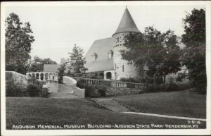 Henderson KY Audubon Museum Real Photo Postcard - CLINE