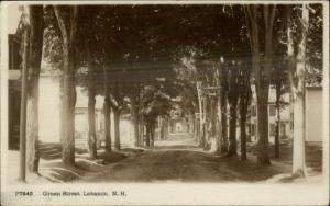 Lebanon NH Green Street c1910 Real Photo Postcard