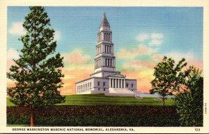 Virginia Alexandria George Washington Masonic national Memorial Curteich