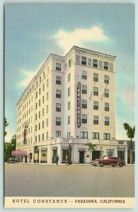 Pasadena California~Hotel Constance~View from Across Street~Car in Front~1940s