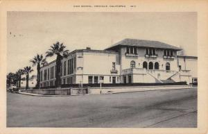 Oroville California High School Street View Antique Postcard K91330