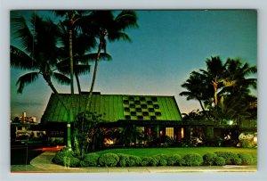 Honolulu HI-Hawaii, Canlis Fine Dining Restaurant, Advertising Chrome Postcard