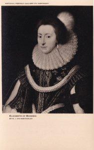Elizabeth Of Bohemia National Portrait Gallery Painting Postcard