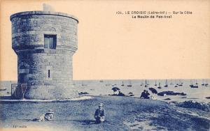 France Le Croisic (Loire-Inf) - Sur la Cote Le Moulin de Pen-Avel CPA