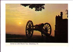Sunset at Little Round Top  Gettysburg, Pennsylvania, Photo Kinneman