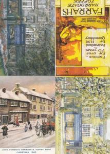 Harrogate Farrahs Yorkshire Toffee Shop 4x Postcard s