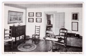 1915-30 Earl Percy Room British Headquarters Munroe Tavern Lexington MA Postcard