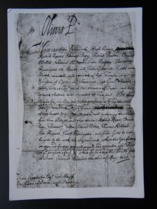 Historical Document CHARLES ll To The Wiltshire Justices of Peace c1660 RPPC