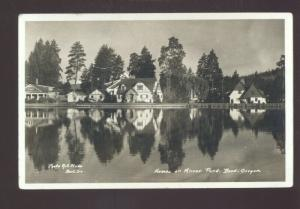 RPPC BEND OREGON MIRROR POND RESIDENCE PHOTO ART STUDIO REAL PHOTO POSTCARD