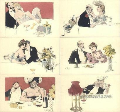Artist Rudolf Bieiyertz? 6 Card Set Unused