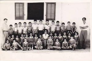 RP: 	Class picture Students & teachers,  Omodos School , CYPRUS , 1950-60s 5/6