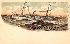 Gruss von der See Ship Pioneer Postcard