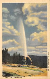 Yellowstone Lone Star geyser Wyoming, USA National Park Unused