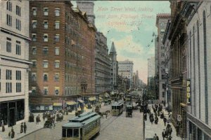 ROCHESTER, New York, 1909; View of Main St.West, looking East from Fitzhugh St.