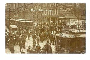 Columbus OHIO RP 1910 STREETCAR STRIKE Trolley LABOR UNREST Union? Boycott