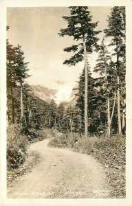 AK, Crow Glacier, Alaska, Dirt Road, Becker Photo, RPPC